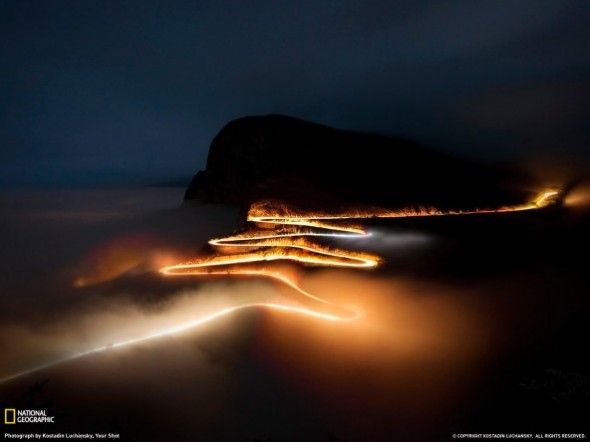 The Serra da Leba road at night
