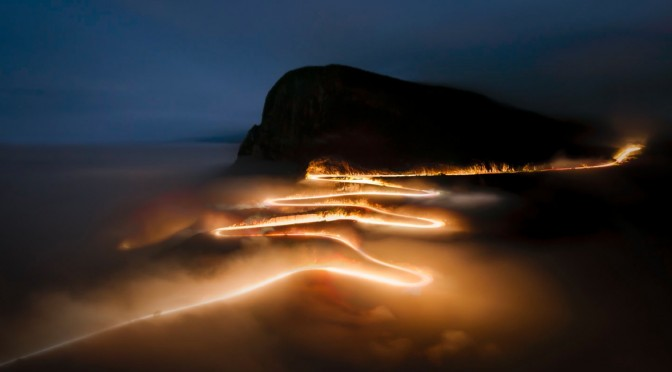 "National Geographic's ""Photo of the Day"" for MAY 12, 2010 is Serra da Leba road at night by Angola Image Bank (AIB)"